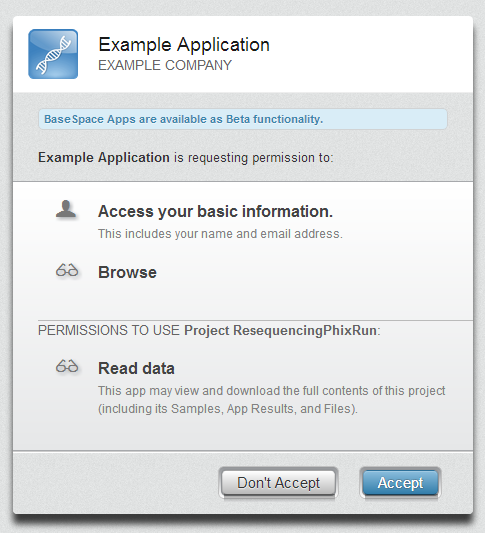 OAuth Dialog Example